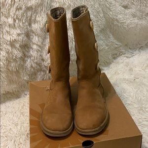 UGG W Annarosa Triple Button Suede Leather Boots